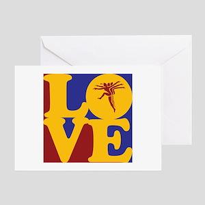 Aerobics Love Greeting Card