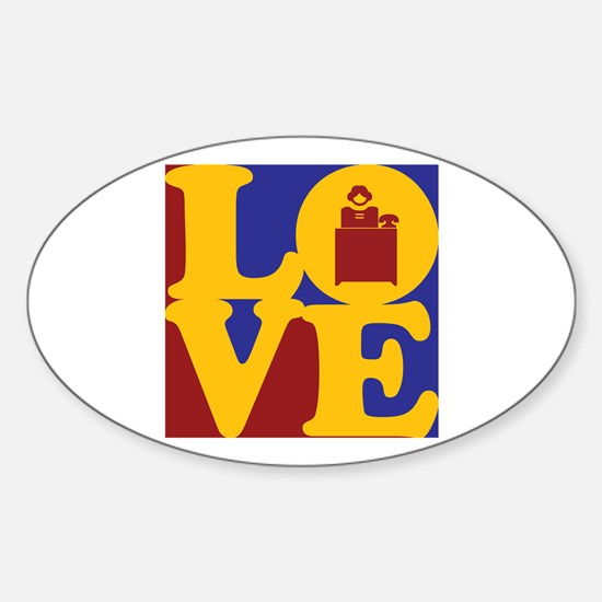 Administrative Assisting Love Oval Decal