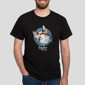Kitty Kind Blue Eyes Snowshoe Cat Dark T-Shirt