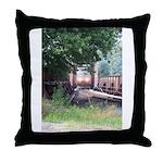 Train On a Bridge, N.S. RR Throw Pillow
