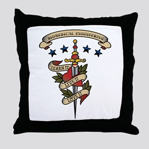 Love Biomedical Engineering Throw Pillow