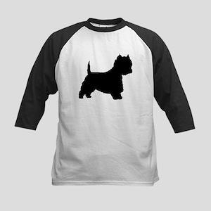 West Highland Terrier Kids Baseball Jersey