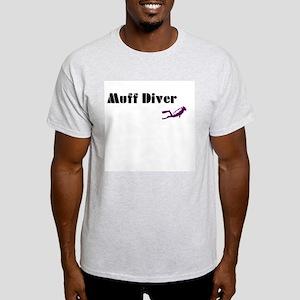 Muff Diver Ash Grey T-Shirt