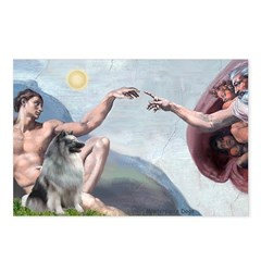 Creation/ Keeshond Postcards (Package of 8)