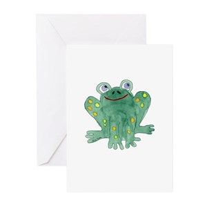 Frog lovers greeting cards cafepress m4hsunfo