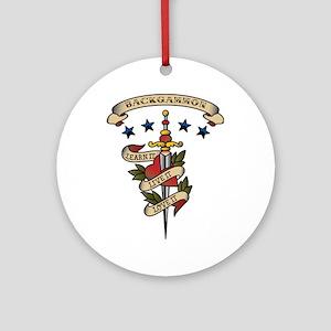 Love Backgammon Ornament (Round)