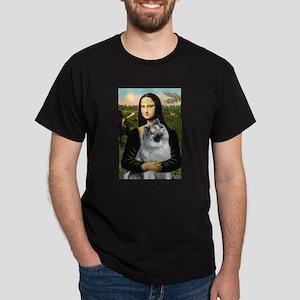 Mona Lisa/Keeshond Dark T-Shirt