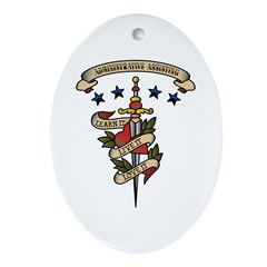 Love Administrative Assisting Oval Ornament