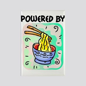 Powered by Noodles Rectangle Magnet