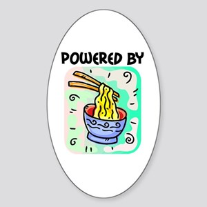 Powered by Noodles Oval Sticker