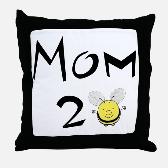 Mom2bee Throw Pillow