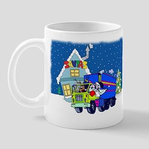 Trucker Santa Christmas Mug
