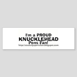 Knucklehead Badge of Honor Bumper Sticker