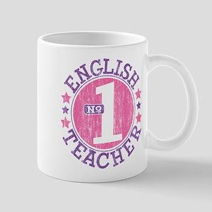 #1 ENGLISH TEACHER (Pink) Mug