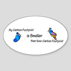 Carbon Footprint..Smaller Oval Sticker (10 pk)
