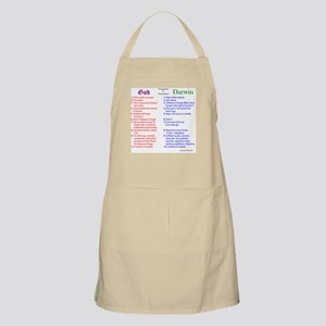 God and Darwin Compared and contrasted BBQ Apron