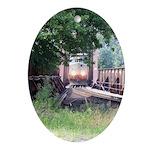 Train On a Bridge, N.S. RR Keepsake (Oval)