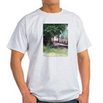 Train On a Bridge, N.S. RR Ash Grey T-Shirt