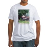 Train On a Bridge, N.S. RR Fitted T-Shirt