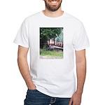 Train On a Bridge, N.S. RR White T-Shirt