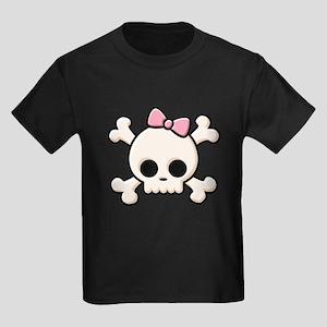 Cute Skull Girl Kids Dark T-Shirt