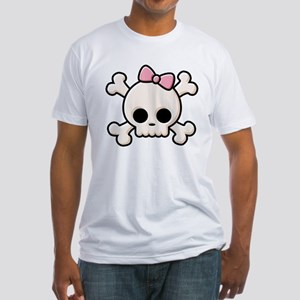 Cute Skull Girl Fitted T-Shirt