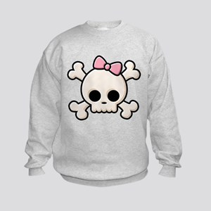 Cute Skull Girl Kids Sweatshirt