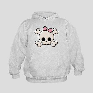 Cute Skull Girl Kids Hoodie