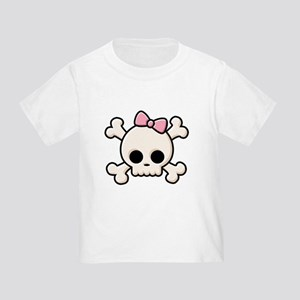 Cute Skull Girl Toddler T-Shirt