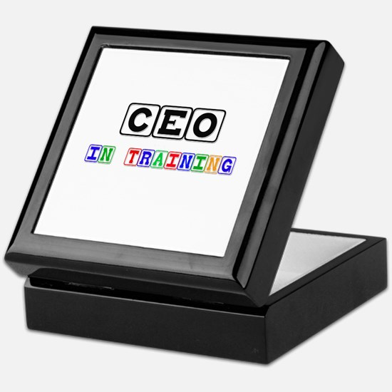 Ceo In Training Keepsake Box