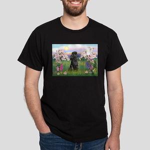 Blossoms/Poodle (miniature #2) Dark T-Shirt