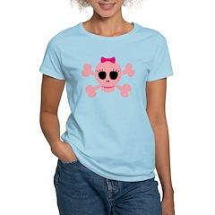 Funny Pink Skull Women's Light T-Shirt