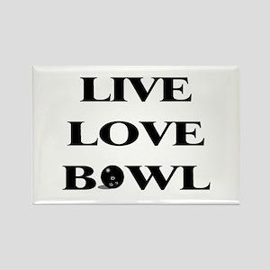 Live Love Bowl Rectangle Magnet