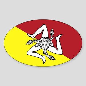 Sicilian trincera Oval Sticker