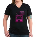 Video Killed the Radio Star Women's V-Neck Dark T-