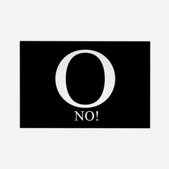 O No! Anti-Obama Rectangle Magnet