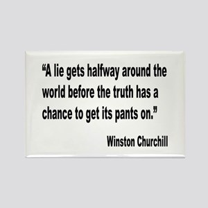 Churchill Lies Truth Quote Rectangle Magnet