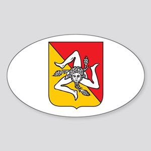 Sicilian Coat or Arms Oval Sticker