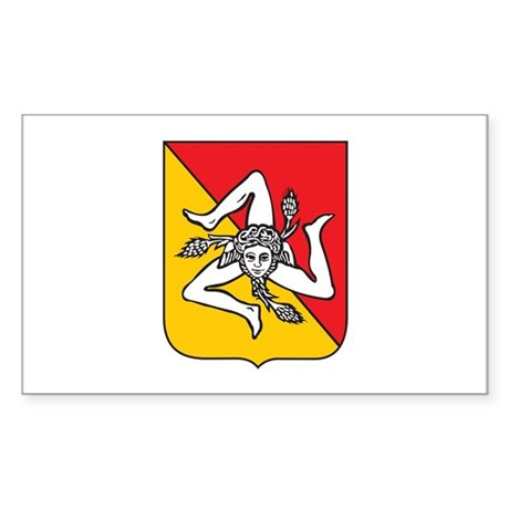 Sicilian Coat or Arms Rectangle Sticker