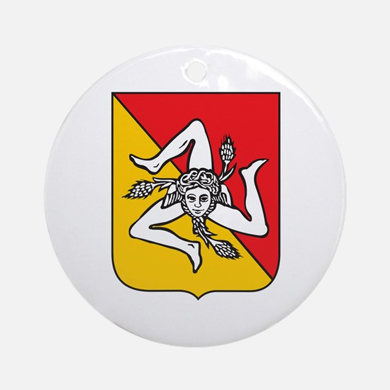 Sicilian Coat or Arms Ornament (Round)