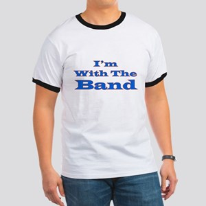 I'm With the Band - Blue/Oran Ringer T