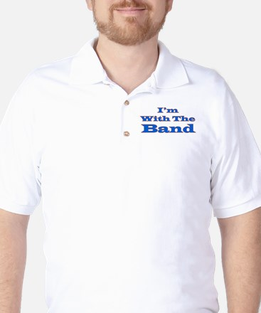 I'm With the Band - Blue/Oran Golf Shirt