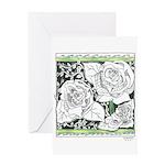 Three Linear Roses Greeting Card