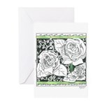 Three Linear Roses Greeting Cards (Pk of 10)