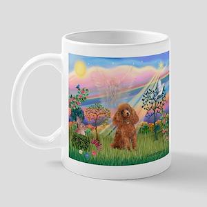Cloud Angel and a brown miniature Poodle #10 Mug