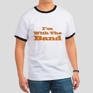 I'm With the Band - Orange/Bl Ringer T