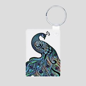 Elegant Peacock Art Keychains