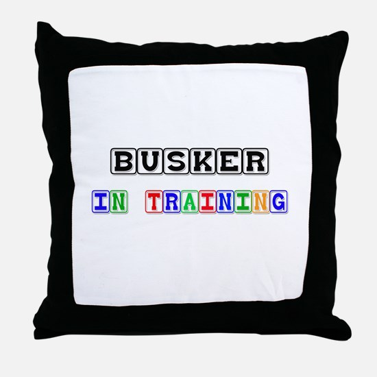 Busker In Training Throw Pillow