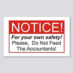 Notice / Accountants Rectangle Sticker