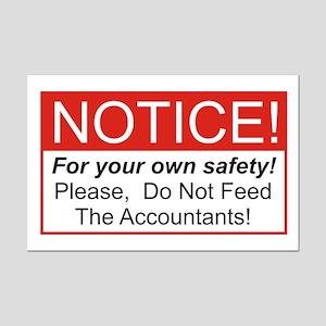Notice / Accountants Mini Poster Print